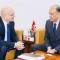 Rencontre du Dr Yves Souteyrand, Représentant de l'Organisation mondiale de la Santé en Tunisie avec le Dr Abdel Raouf Cherif,  Ministre de la Santé