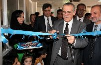 Dr Ala Alwan, WHO Regional Director for the Eastern Mediterranean, inaugurating the training and care centre for severe acute malnutrition treatment at the Indira Gandhi Child Institute