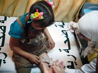 World Vaccination Week in Syria will immunize children who missed their routine vaccination rounds in addition to women of reproductive age. Photo credit: WHOSyria