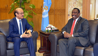 WHO Regional Director meets with H.E. Mr Bahar Idris Abu Garda, Federal Minister of Health, Sudan