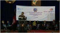 The WHO Representative in Afghanistan addresses a meeting on the occasion of World Suicide Prevention Day 2012