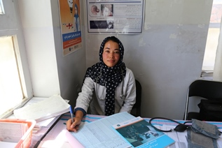 Habiba Jaffari wanted to be a midwife to help women in her community. WHO/S.Ramo
