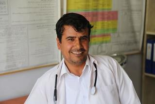Dr Muhammad Muhammadi at the Yakawlang District Hospital in Bamyan. WHO/S.Ramo