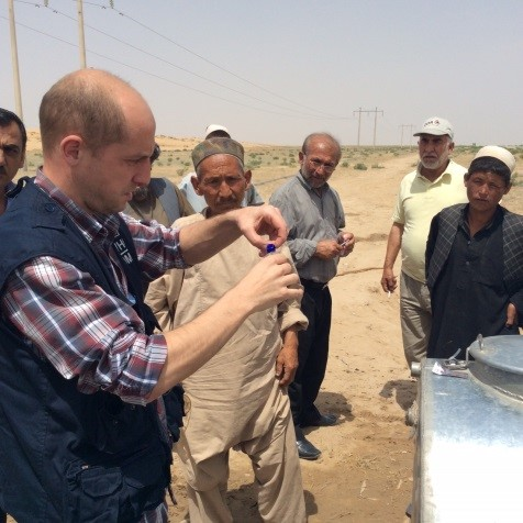 Monitoring chlorine concentration in drinking water during an emergency situation in Balkh province