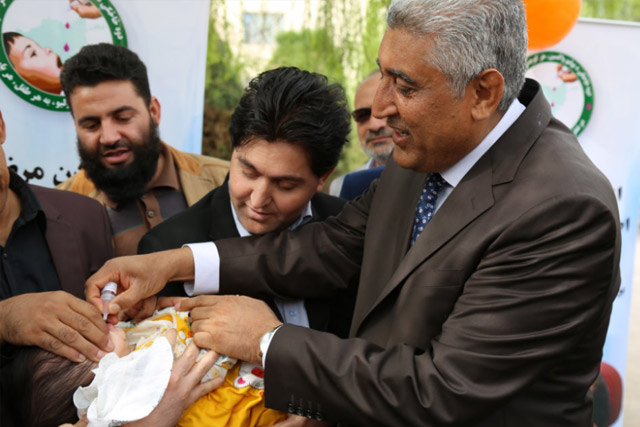To mark the start of the week-long effort, inauguration ceremonies were held across the country. Herat provincial governor Asef Rahimi vaccinated local children in the ceremony.