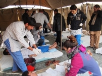The mass casualty management training and simulation exercise was carried out by Emergency NGO