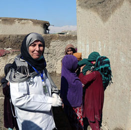 WHO-supported mobile clinics bring essential health services to internally displaced Afghans
