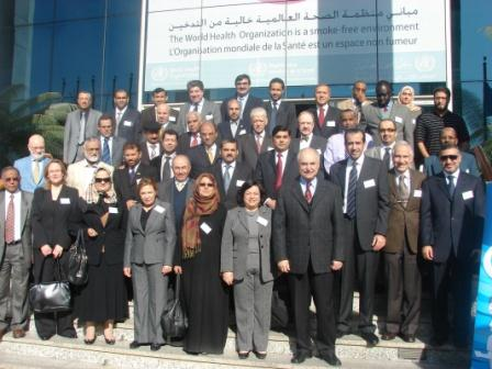 An image showing a group photo for all participants who attended the workshop, Cairo, 14-16 December 2009