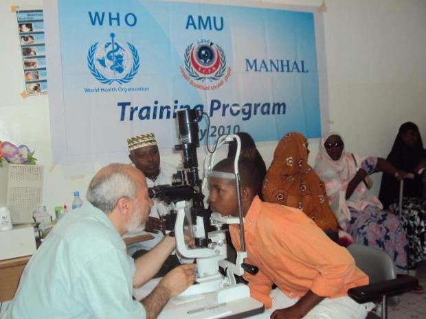Photo shows an eye care training porgramme in Somalia