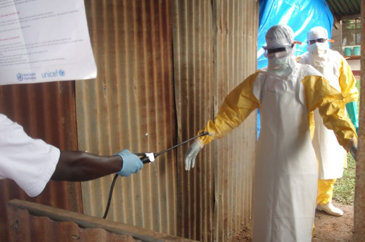 A member of a Rapid Response Team receives training on Ebola in Sudan (Photo: WHO).