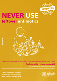 Never use leftover antibiotics