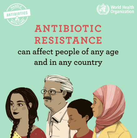 Antibiotic resistance can affect people of any age and in any country
