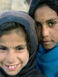A photo of two young girls from the Region