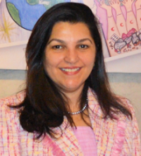 A photograph of Dr Naeema Al-Gasser, WHO Representative in Egypt