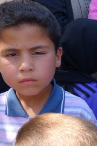 Syria crisis - boy in IDP camp