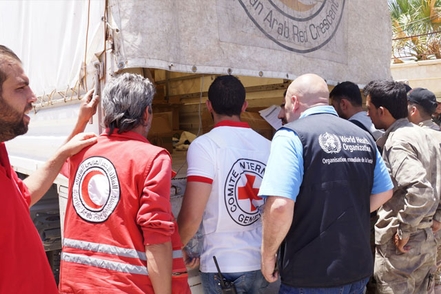 Credit: WHO Syria: More than 5 years of conflict have taken a toll on the health of the Syrian people and the health system that serves them, with almost 13.5 million people requiring humanitarian assistance. More than half of the country's public hospitals and primary health care centres have either closed or are only partially functioning, hundreds of thousands of children under 5 have missed out on routine vaccination, and thousands of patients have been deprived of treatment for trauma injuries and chronic conditions. Almost two thirds of all health professionals have fled the country and those who remain are at constant risk. Despite the hostilities inside Syria, WHO was able to: support the medical evacuation of besieged populations from Eastern Aleppo City gain humanitarian access to previously inaccessible areas to deliver life-saving medicines strengthen the capacity of health care workers support chronic diseases care, including for kidney, and insulin-dependent patients conduct a national multi-antigen vaccination campaign in hard-to-reach and besieged areas.