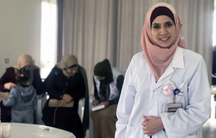 Murjan is a senior nurse with a mobile clinic that provides mammography services to women in the West Bank villages in the occupied Palestinian territory. It often takes her a few hours, if possible at all, to reach some of the areas – and not just because of the remoteness.