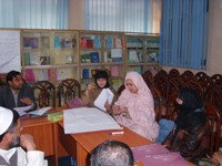 Participants at a gender mainstreaming training for health managers in Jalalabad, Afghanistan