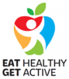 Campaign logo saying: Eat Healthy Get Active