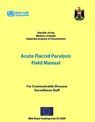 Thumbnail Of Acute Flaccid Paralysis Field Manual: For Communicable  Diseases Surveillance Staff