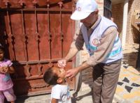 A national polio vaccination campaign led by the Ministry of Health  and supported by WHO and UNICEF was conducted in 18  governorates around Iraq. Photo: Dr. Nima Abid/WHO