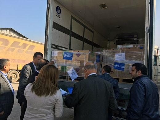 WHO has also supplied Ninewa Directorate of Health and health partners with essential lifesaving medicines, including medicines for the treatment of chronic conditions, acute upper respiratory tract infections, and other medical conditions.