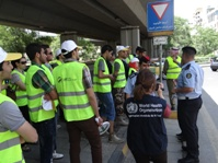 Jordan traffic police advise WHO staff and volunteers on road safety