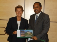 Dr Akram Eltom meets with Parliamentary State Secretary for Health Ms Ulrike Flach