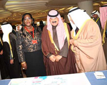 The JAF 17 exhibition on onchocerciasis (river blindness) control efforts in Africa was inaugurated by H.E Sheikh Sabah Khaled AlHamad AlSabah, Deputy Prime Minister and Minister of Foreign Affairs, Chairman of the Kuwait Fund in the presence of ministers of health, donors, NGDOs, other partners and invited guests.