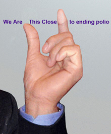Logo for World Polio Day