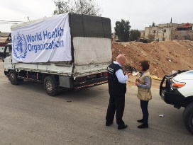 WHO delivers supplies to Mouadamieh