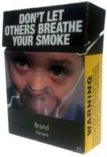 Australian cigarette packet with a pictorial health warning