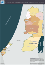 Map of West Bank and Gaza Strip