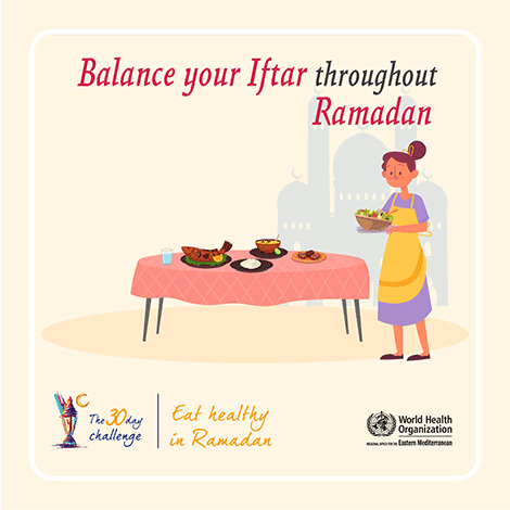 Balance your iftar throughout ramadan