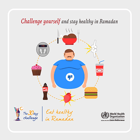 Challenge yourself and stay healthy in Ramadan