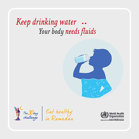 Keep drinking water, your body needs fluids