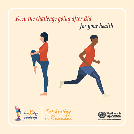 Keep the challenge going after Eid for your health