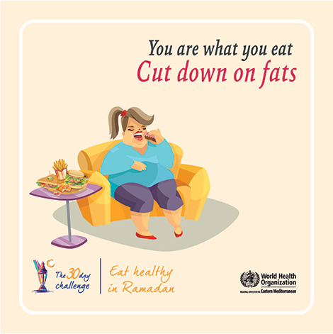 You are what you eat - cut down on fats