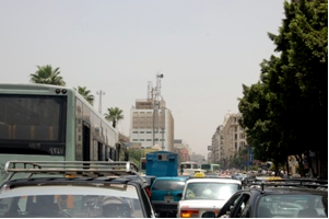 Traffic congestion in Egypt