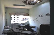 A damaged hospital in the Syrian Arab Republic