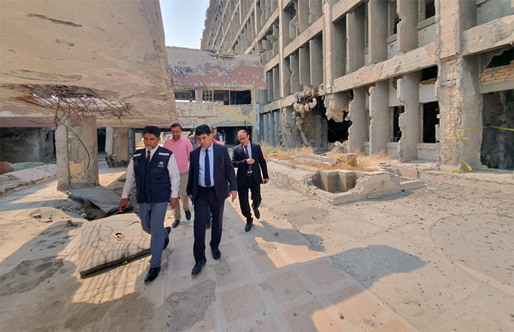 Visit to the destroyed Ibn Sina Hospital in Mosul, Ninewa governorate