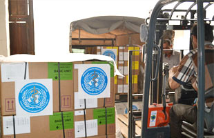 WHO is providing inter-agency health kits containing medicines and medical supplies for 200,000 people as part of its response to the ongoing crisis in Iraq.
