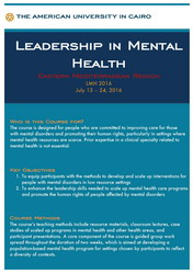 Second Leadership Course in Mental Health