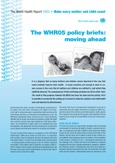 Image shoes cover page for the publication entitled: WHR05 policy briefs