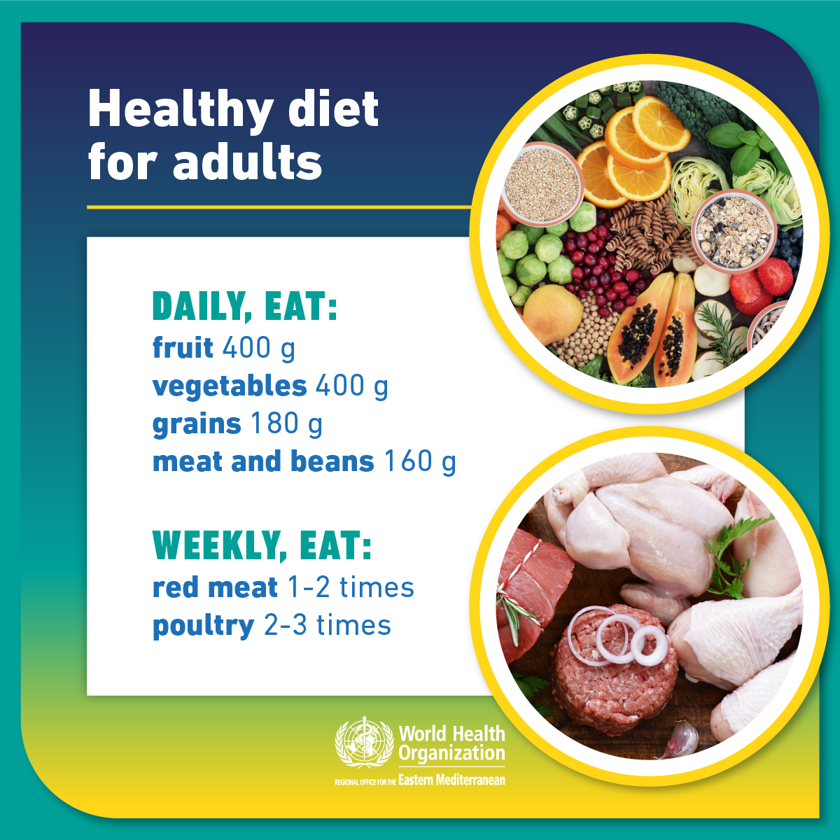 Who Emro Healthy Diet For Adults Campaigns Ncds