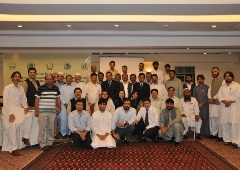 A photo of participants at the planning workshop