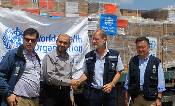 WHO delivers trauma kits to the Ministry of Health in Gaza, August 2018