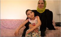 Ala Zahwahri, a young Palestinian girl with physical disabilities