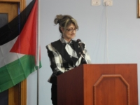 Dr Randa Abu Rabie at a joint Ministry of Health and WHO World Blood Donor Day ceremony_2012