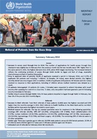 WHO monthly report on Gaza RAD - February 2014